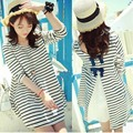 Pregnant Dresses for Women Spring Maternity Clothes Plus Size Stripe Casual Dress Maternity Cotton