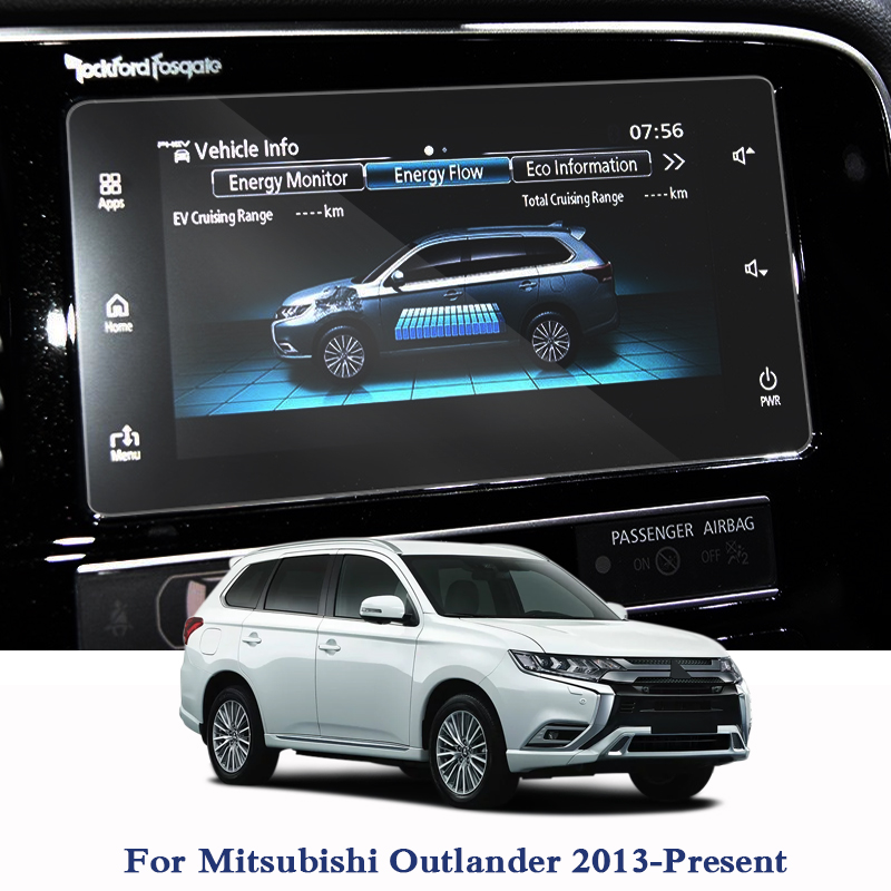 For Mitsubishi Outlander 2013-Present GPS Navigation Screen Glass Protective Film Dashboard Display Protective Film