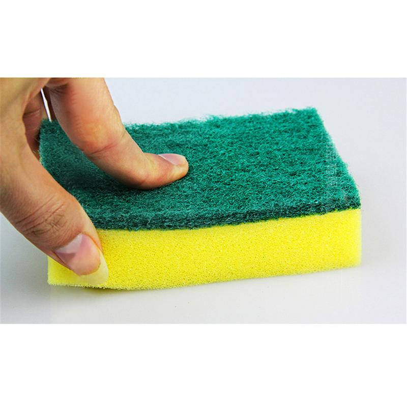 10Pcs High Density Sponge Kitchen Cleaning Tools Washing Towels Wiping Rags Sponge Scouring Pad Microfiber Dish Cleaning Cloth40 in Sponges Scouring Pads from Home Garden