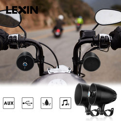 Lexin 2018 Super Music audio Player with FM Radio Tuner  Bluetooth Speakers for Motorcycle Waterproof portable Stereo
