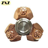 2017 New Quality Zinc Alloy EDC Tri Spinner Fidgets Metal Hand Spinner For Autism And ADHD