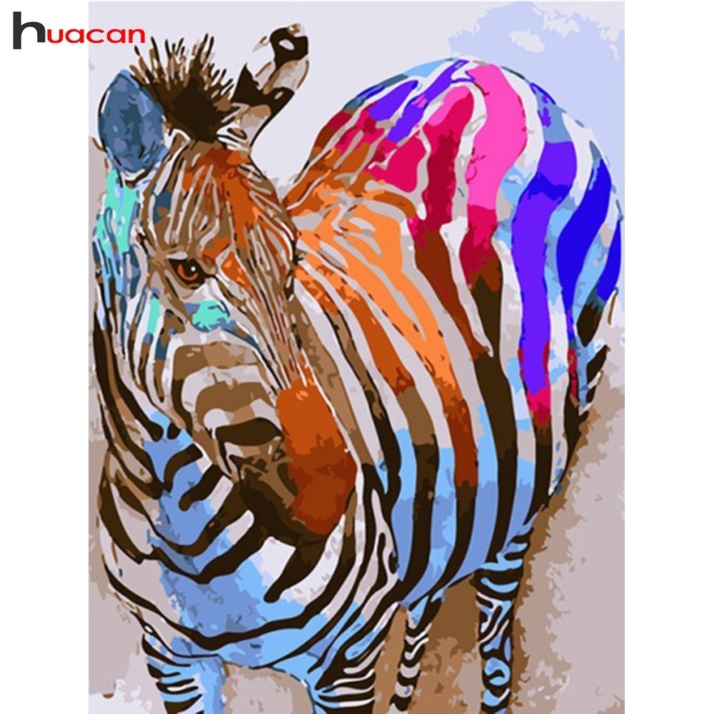 HUACAN Diamond Painting Horse Diamond Embroidery Animal Full Square Resin Drill Rhinestone Painting Home Decor Factory Direct
