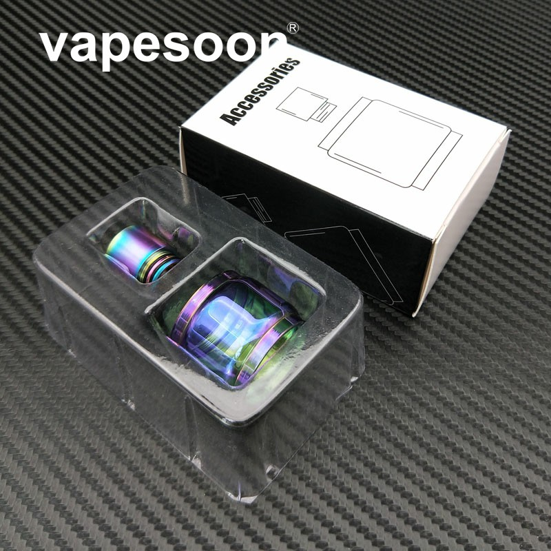 Vapesoon Replacement Rainbow Glass Tube For Smok Stick X8 Kit Tfv8 X-baby 2ml Tank Electronic Cigarettes