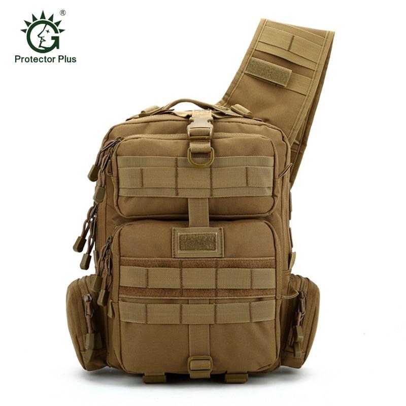 где купить Protector Plus Wear-resistant nylon Molle Sling Backpack 20L One Shoulder Military Tactical Backpack Outdoor Camping Hunting Bag по лучшей цене
