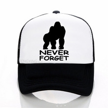 Never Forget Harambe print baseball cap summer Casual mesh trucker Adjustable sports hat