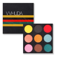VVHUDA Eyeshadow Makeup Palettes Super Bold Bright 9 Colorful Shades Smokey Eye Shadow Cosmetic Kit Pigmented Mattes Shimmers Eyeshadow