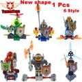 1 unids caballeros de bloques de construcción de mini arcilla axl macy lanza aaron jestro figuras niños regalo compatible nexus elieds jx1029