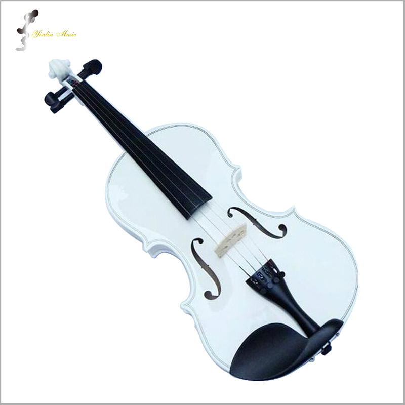 White Violin 1/4 3/4 4/4 1/2 1/8 Size Available Violin in Full Set (Bow, Rosin and Case) Colorful Violins Many Colors Available 1 4