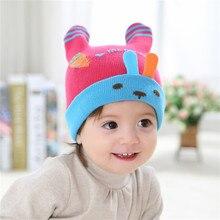 Милый Ребенок Мальчики Девочки Пятиконечная Звезда Полосы Вязанная шапочка Зима Теплая Шапочка