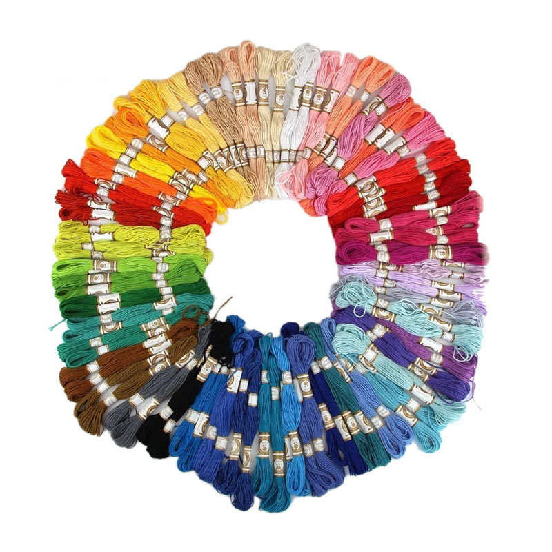 Embroidery and Sewing Includes 17 Colors of Friendship Thread for Bracelet Making Multi Horizon Group USA 72 Skeins of Premium Embroidery Floss Cross Stitch