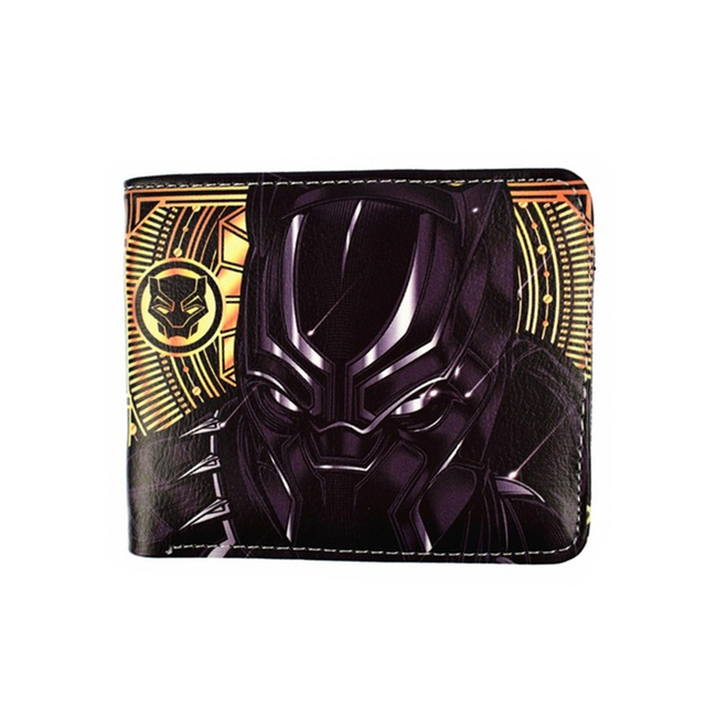 marvel movie Black Panther short wallet Marvel's The Avengers american captain batman ironman kid toy purse