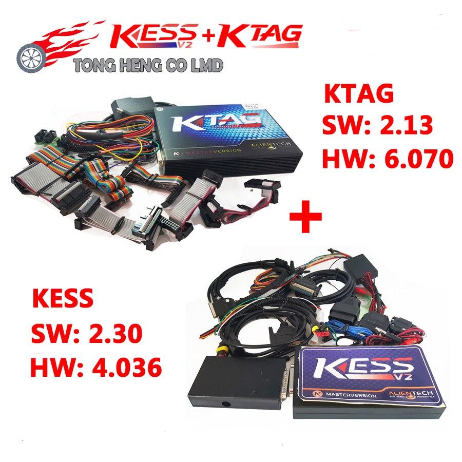 Цена за Нет Ограничения Маркеров KESS V2 V2.30 FW V4.036 включает в себя все версии SW OBD2 Менеджер KTAG V2.13 FW V6.070 ECU Программирования DHL Бесплатно
