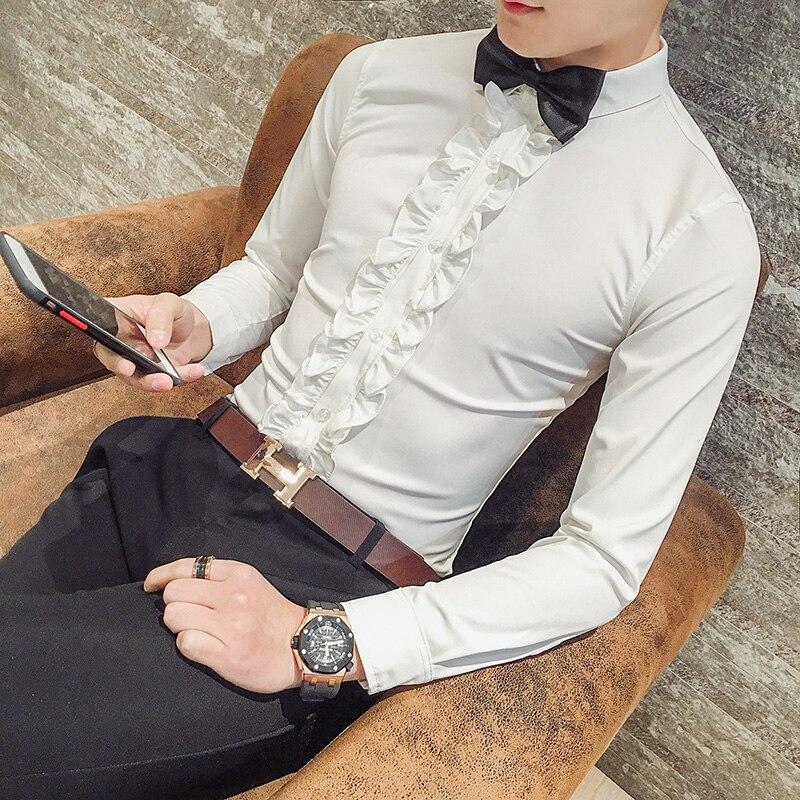 2019 Abendkleid Shirts Mode Männer Hochwertige Reine Baumwolle Casual Langarm-shirt/männlichen Frühjahr Dünne Business Hemd Größe S-xxl Mit Einem LangjäHrigen Ruf