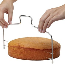 Joyathome Adjustable Double Slice Bread and Cake Cutter Durable Leveler Stainless Steel Baking Accessories Gadget