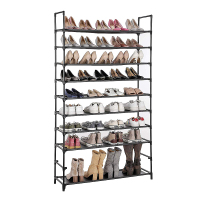 10 Layer Storage Shoe Rack Hallway Cabinet Organizer Holder Assemble Shoes Shelf DIY Home Furniture