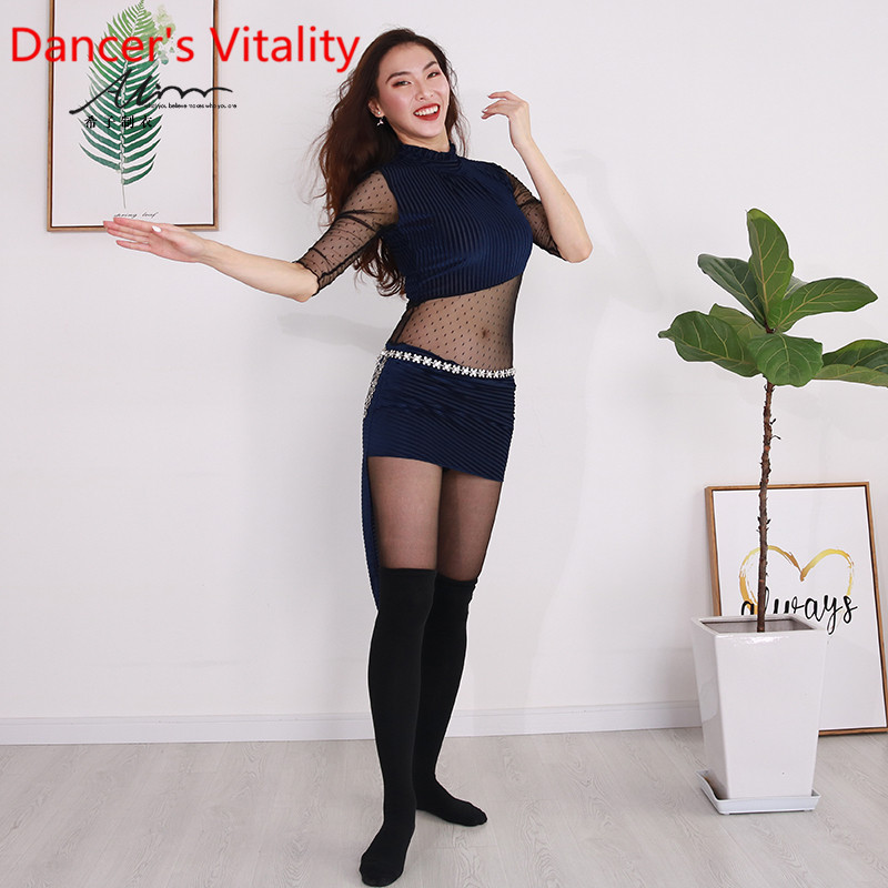 Belly Dance Costume Female Training Practice 2019 New Beginner Autumn And Winter Screen Velvet Performance Costumes
