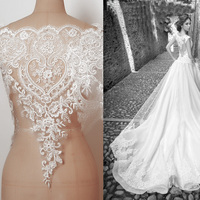 Wedding Dress Lace Luxury Fashion Cotton Fish Bone Lace Decoration Accessories Handmade Diy Bride Wedding Fabric