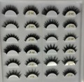 3D Cílios Vison Extensão Natural Longo Cruz Grossa Cílios Vison Handmade Eye Lashes D001-D012