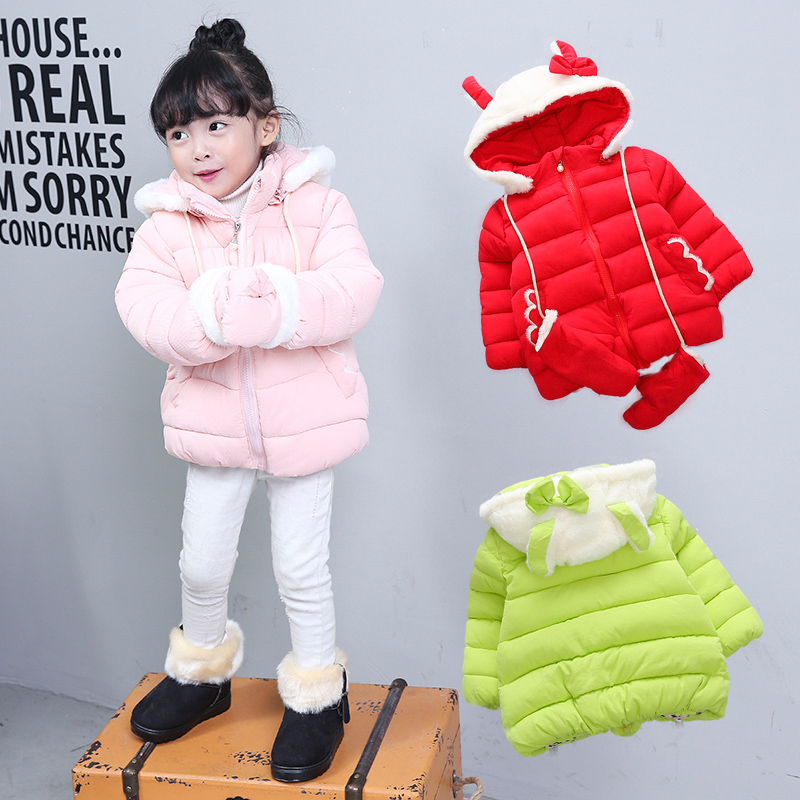 Kızlar giyim snowsuit kalın ceketler Bebek kız moda aşağı ceket 2016 Sıcak Ceket Çocuk giyim kış bebek kapüşonlu Ceket