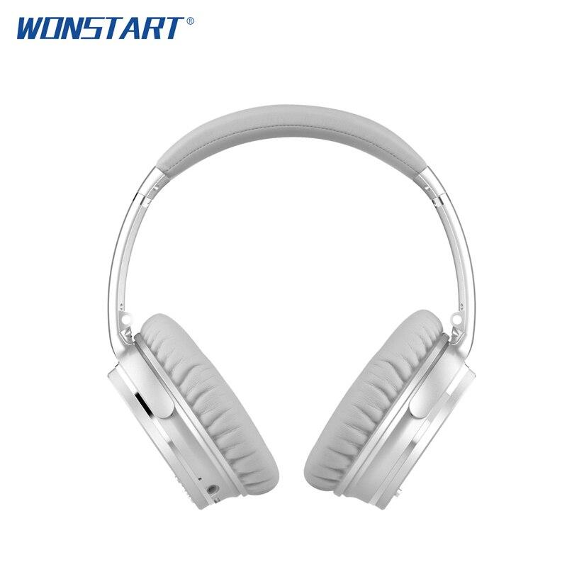Wonstart Active Noise Cancelling Casque Bluetooth Stéréo casque avec micro pour téléphone ecouteur bluetooth Sans Fil écouteurs