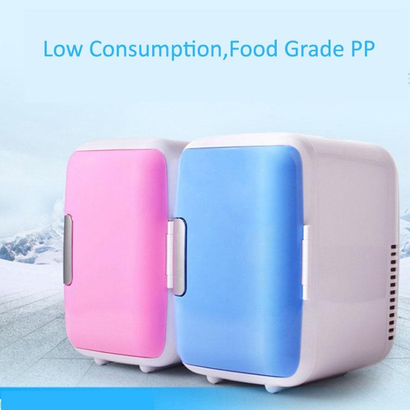 Double Use 4 LIter Home Use Refrigerators Ultra Quiet Low Noise Transport Small Refrigerators Freezer Cooling Warm Fridge