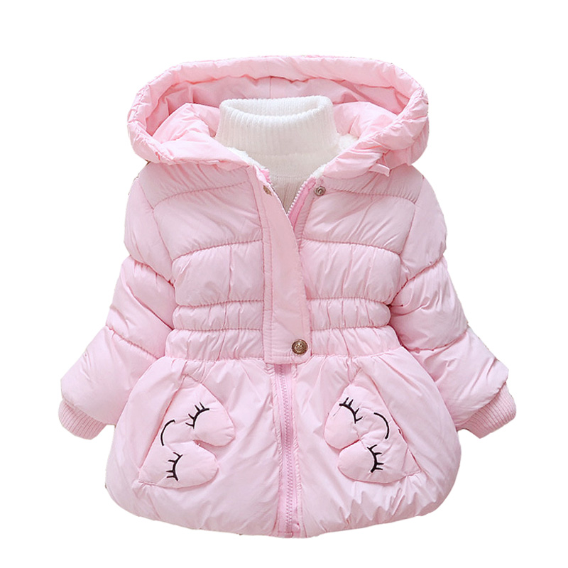 Children outerwear cotton winter Hooded coats Winter Jacket Kids Coat children's Girls clothing Thick Down & Parkas D46