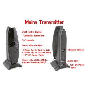 Image 3 - サイレントディスコ完全なシステム led ワイヤレスヘッドフォン静音クラブパーティーバンドル (4 ヘッドフォン + 2 トランスミッタ)