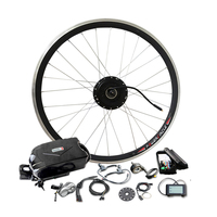 Powerful 48V10Ah Battery 350W Motor Electric Bike Kit for 26'' 700C Wheel with PAS bldc Controller LCD900 Display Suitable