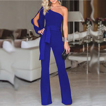 Sexy Bodysuit Body Vadim Polyester Cotton Solid Real 2019 New Style Women One Shoulder High Waist Strapless Straight Jumpsuit(China)