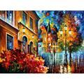 Современное искусство счастливая ночь ручная роспись ножи картины пейзаж масло на холсте Высокое качество