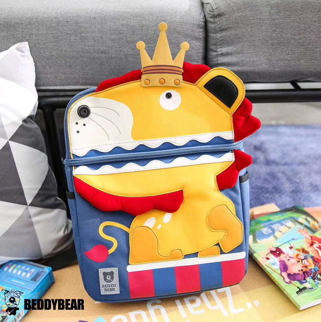 BEDDYBEAR School Bags For Kids Children's Backpack Cartoon Lion Rabbit Bear Girls School Bags Schoolbags For Boys