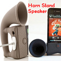 Cute Silicone Horn Stand Speaker Loudspeaker Amplifier for Apple iPhone4