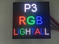 64x64 indoor RGB hd p3 indoor led module video wall high quality P2.5 P3 P4 P5 P6 P7.62 P8 P10 LED panel full color led display