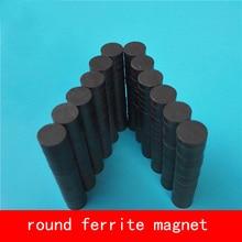 100PCS D8*3mm permanent disc round ferrite magnet mini magnets work temperature -40 to +220 Celsius