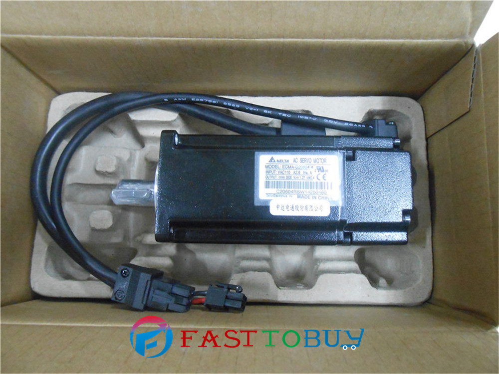 Delta AC Servo Motor 220V 750W 2.39NM 3000rpm ECMA-C20807SS  with Keyway Oil Seal brake New new original 750wa2 series motor ecma c10807rs 220v 750w 2 39nm 3000rpm ac servo motor with keyway oil seal