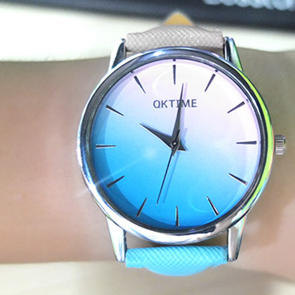 Temperament Leather Quartz Wach Women Lady Brand Design Multicolor Dial Analog Female Wrist Watches Women's Simple Dress Clock