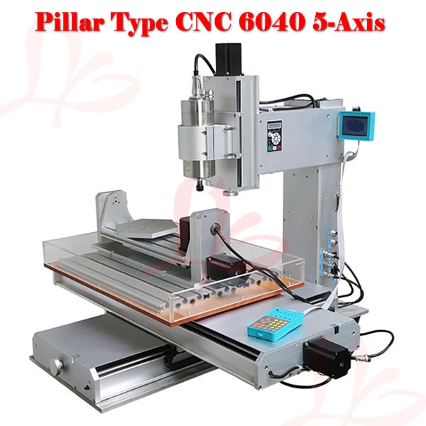 CNC router lathe machine 6040 5axis 2.2KW wood cutting machine for woodenworking eur free tax cnc router lathe machine 6040 5axis wood milling and drilling machine for woodenworking