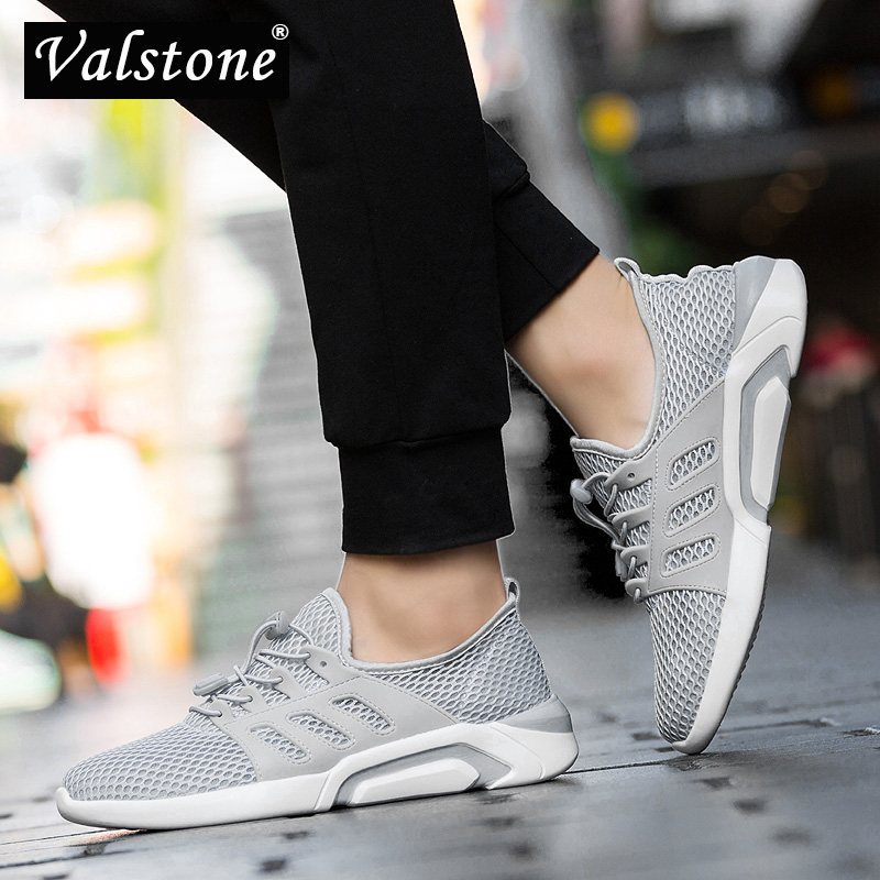 Valstone Men's Breathable Trainers Mesh Air Sneaker Hot Sale Male Outdoor Jogging Shoes Summer Walking Shoes Light Extra Size 49