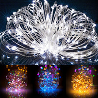 New Solar Powered String Lights 20M 200 LEDs Copper Wire Outdoor Fairy Light For Christmas Garden