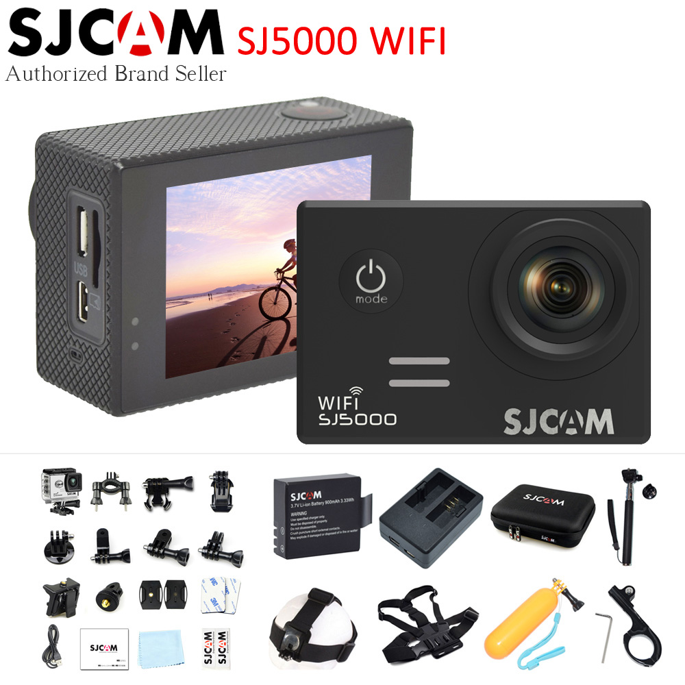 SJCAM SJ5000 Wifi Novatek 96655 14MP 170 Wide Angle 2.0 LCD 1080P Sport Action Camera Waterproof Camcorder For Diving Swimming sjcam sjcam sj5000 wifi 96655 full hd 1080p