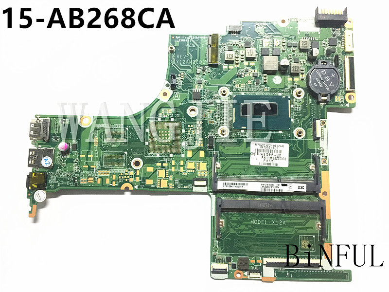 For HP PAVILION NOTEBOOK 15-AB268CA  Laptop Motherboard 841914-601 i5-4210U DAX12AMB6D0 100% fully tested