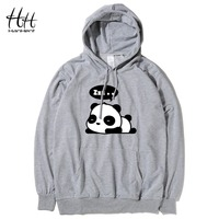 HanHent Sleep Panda Hoodies Men Cute Animal Hooded Sweatshirts Pullover Fashion Creative Funny Thin New Hoodie