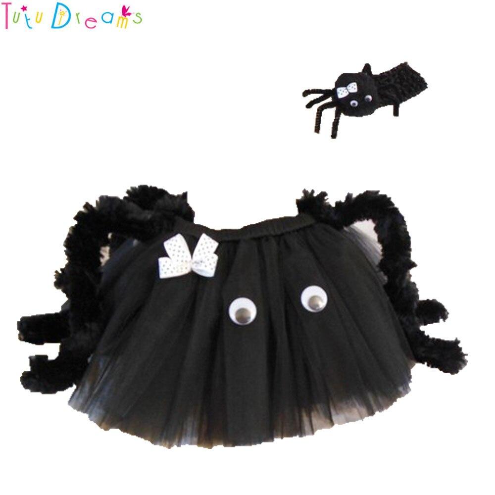 0aac70a15 Halloween negro araña chica Tutu falda gracioso lol fiesta Horrible arañas  porque para niños traje de los niños foto disparar y diadema