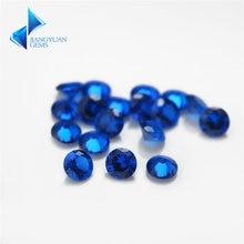 Круглые синие камни синтетический шпинель синий камень для ювелирных