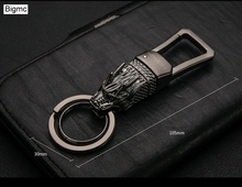 New Charm Alloy Dragon Men Keychain Bag Pendant Totem Boutique Car Key Chain Key Ring For Business Gift Holder Jewelry K1576 цена и фото