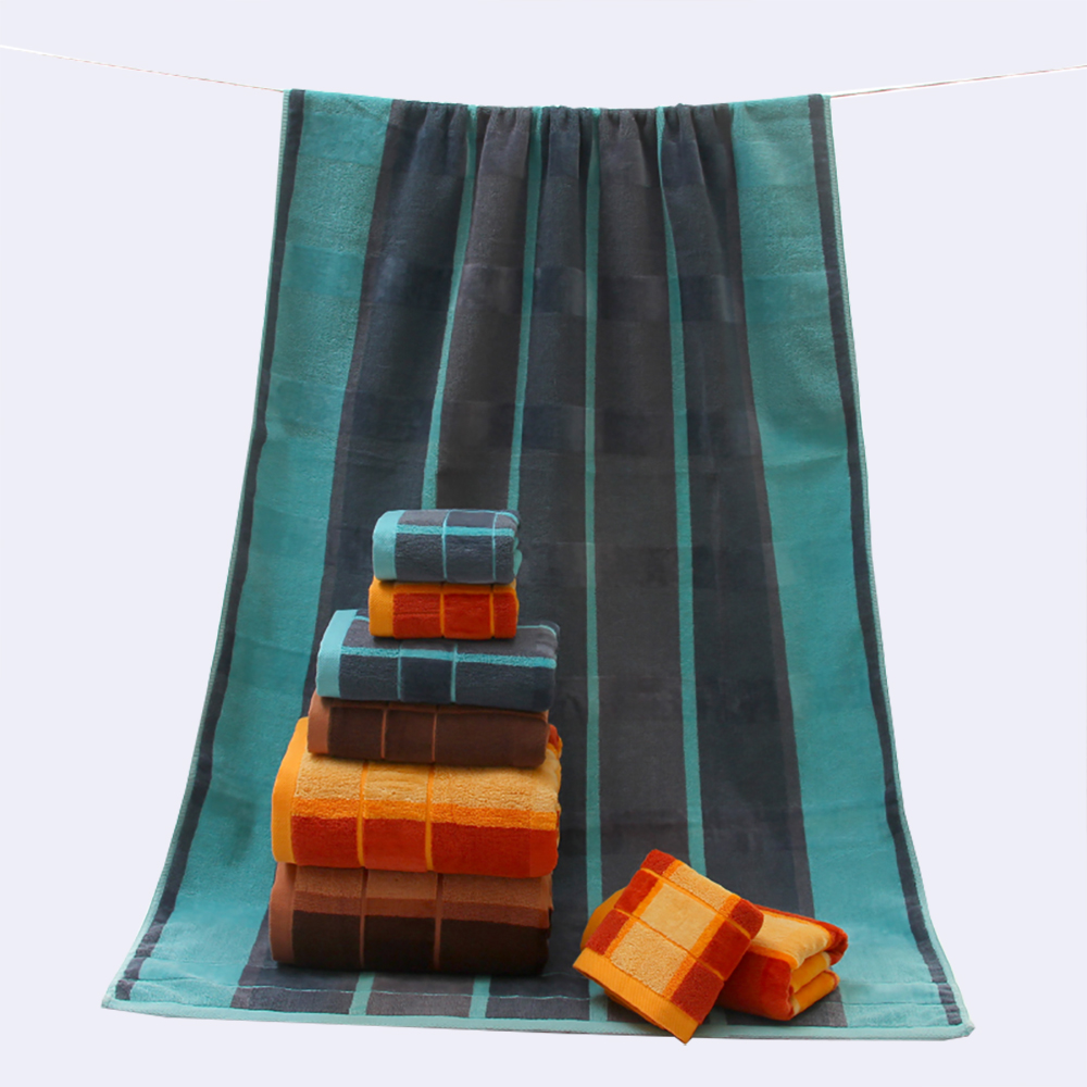 DARIS 3pcs/Lot Bath Towel Set 34*34cm 34*74cm 70*140cm 100% Cotton Bath Towel Piece Set Face Towel Wholesale 3 Colors