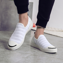 2017 Diseñador de la Marca de Verano Hombres Zapatos de Malla Transpirable Ligero Moda soft Pisos Casual Zapatos para caminar al aire libre