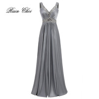 Vestido De Festa A Line Satin Long Evening Dress 2016 Vestido Longo Prom Dresses Party Dresses