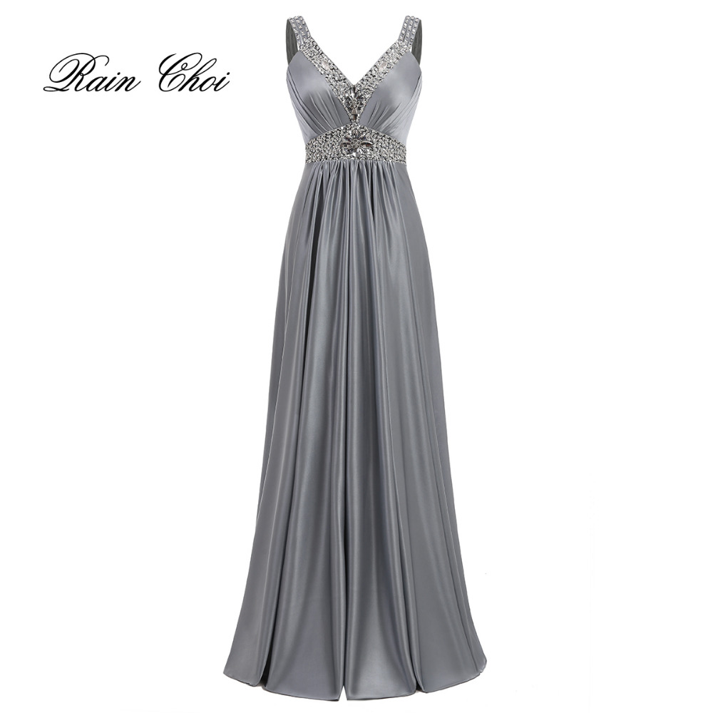 Vestido De Festa A-Line Satin Long Evening Dress 2016 Vestido Longo - Ypatinga proga suknelės