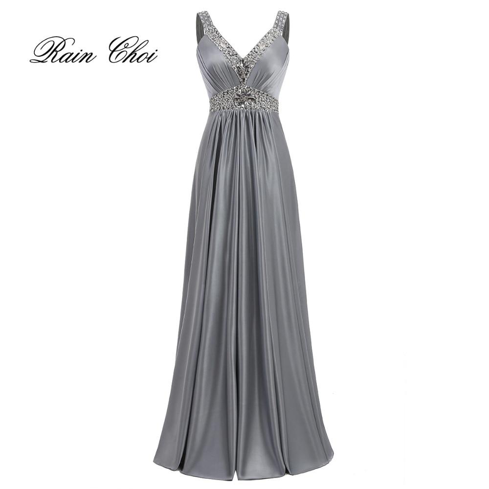 Women Sleeveless Sexy A-Line Elegant Wedding Party Formal Gowns Long Evening Dress 2020